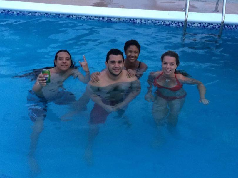 Carlos, Katherine and Eduardo - Panamanian friends - panamai skacok